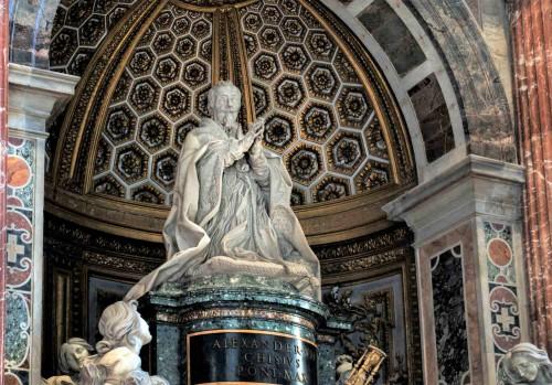 Nagrobek papieża Aleksandra VII, fragment, bazylika San Pietro in Vaticano