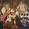 Fabio Chigi otrzymuje kapelusz kardynalski od Innocentego X, Pier Leone Gehzzi, pocz. XVIII w., Museo di Roma, Palazzo Braschi