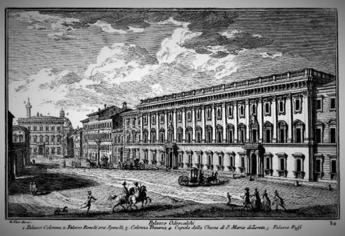 Palazzo Chigi-Odescalchi, Piazza dei Santi Apostoli, Giuseppe Vasi