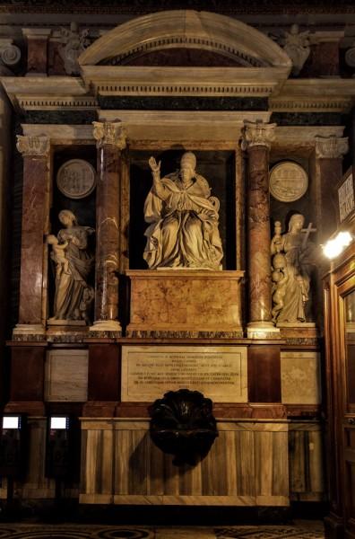 Tombstone monument of Pope Clement IX, Basilica of Santa Maria Maggiore