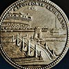 Silver medal showing the bridge S.Angelo - work of Pope Clement IX