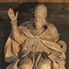 Tombstone monument of Pope Clement IX, fragment, Basilica of Santa Maria Maggiore