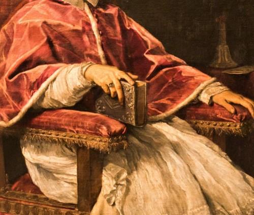 Carlo Maratti, Portret papieża Klemensa IX, fragment, Pinacoteka Vaticana - Musei Vaticani