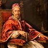 Portret papieża Klemensa IX, fragment, Carlo Maratti, Pinacoteka Vaticana - Musei Vaticani