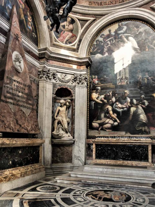 Bazylika Santa Maria del Popolo, kaplica Chigich - miejsce spoczynku Agostina Chigiego
