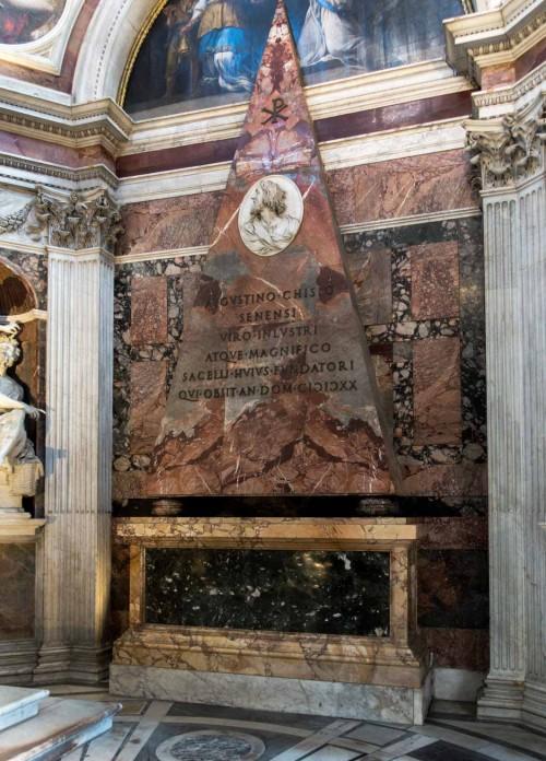Bazylika Santa Maria del Popolo, kaplica Chigich, pomnik pośmiertny Agostina Chigiego