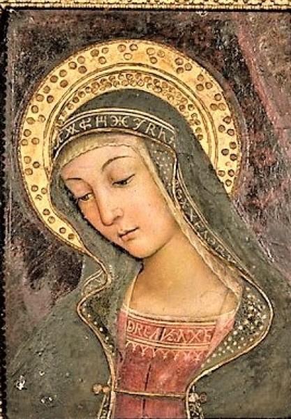 Giulia Farnese, fragment fresku, Pinturicchio, kolekcja prywatna