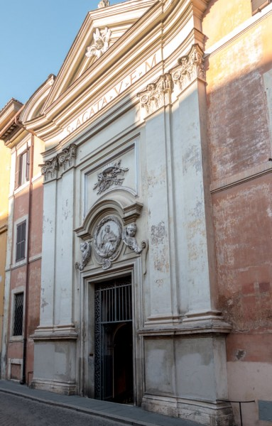 Façade of the Church of Sant'Agata dei Goti,via Mazzarino