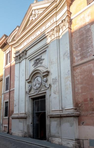 Fasada kościoła Sant'Agata dei Goti,via Mazzarino