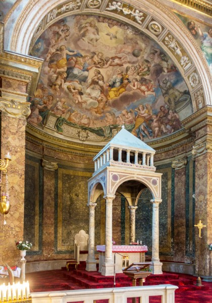 Church of Sant'Agata dei Goti, cyborium in the apse