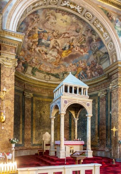 Kościół Sant'Agata dei Goti, cyborium w absydzie