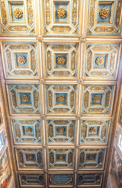 Church of Sant'Agata dei Goti, ceiling