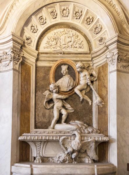 Nagrobek kardynała Carla Bichiego autorstwa Carla de Dominicisa