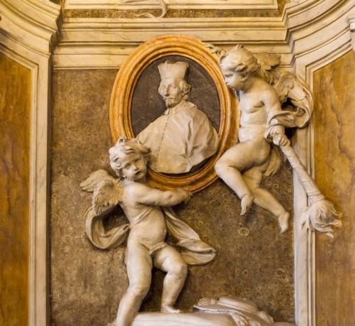 Nagrobek kardynała Carla Bichiego autorstwa Carla de Dominicisa, fragment