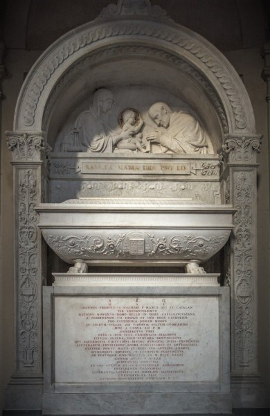 Tombstone of Cardinal Juan Francisco Marco y Catalán, 19th century, church of Sant'Agata dei Goti