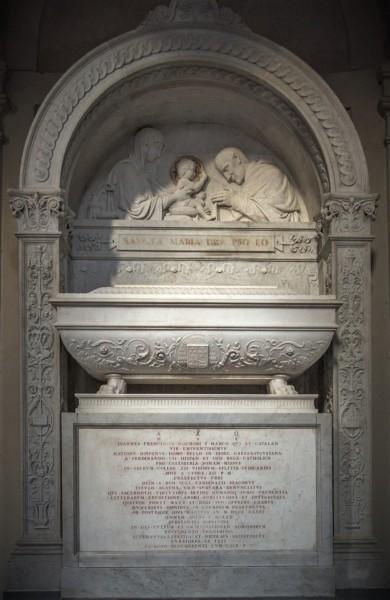 Tombstone of Cardinal Juan Francisco Marco y Catalán, 19th century, church of Sant'Agata dei Goti