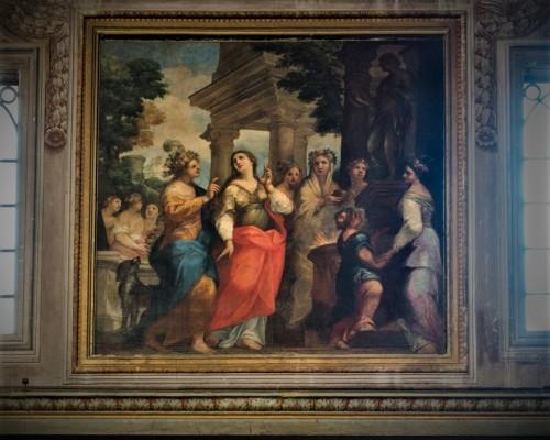 Święta Agata, Paolo Perugini, fresk we wnętrzu kościoła Sant'Agata dei Goti