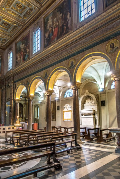 Interior of the Church of Sant'Agata dei Goti