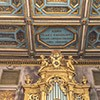 Choir and ceiling fragment with dedication to Cardinal Francesco Barberini