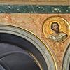 Medaliony z wizerunkami świętych pochodzenia irlandzkiego, wnętrze kościoła Sant'Agata dei Goti