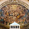 Wnętrze kościoła Sant'Agata dei Goti, absyda z freskami ukazującymi Glorię św. Agaty, koniec XVI wiek, Giacomo Rocca