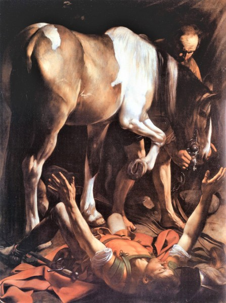 The Conversion of St. Paul, Caravaggio,Cerasi Chapel, Basilica of Santa Maria del Popolo
