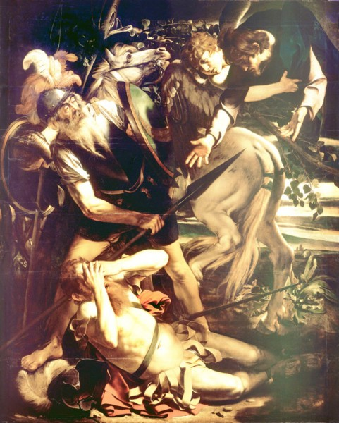 Nawrócenie św. Pawła (pierwotna wersja obrazu), kolekcja prywatna rodu Odescalchi, Palazzo Odescalchi, Rzym, zdj.Wikipedia