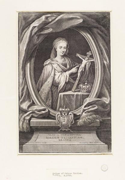 Maria Klementyna Sobieska, Jacobite broadside, zdj. Wikipedia