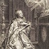 Maria Klementyna Sobieska modląca się, Jacobite broadside, zdj. Wikipedia