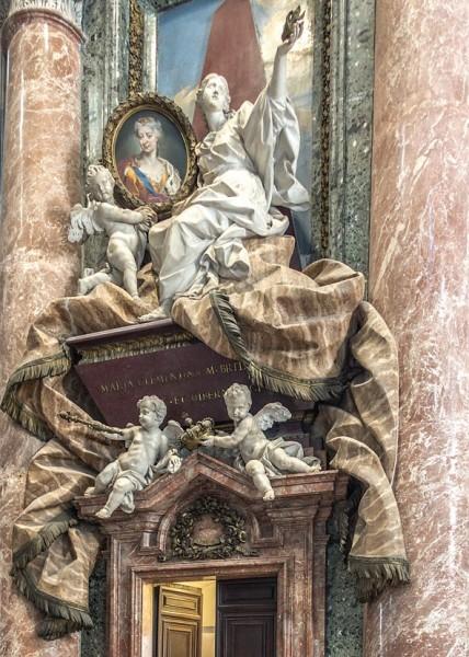 Pomnik nagrobny królowej Marii Klementyny Sobieskiej, Pietro Bracci, bazylika San Pietro in Vaticano