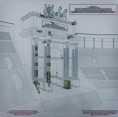 Circus Maximus, rekonstrukcja łuku Tytusa -monumentalnej dekoracji hipodromu