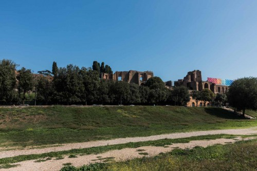 Widok na Palatyn od strony Circus Maximus