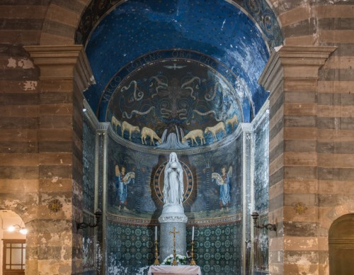 Interior of the Church of Santa Maria in Cappella, the apse