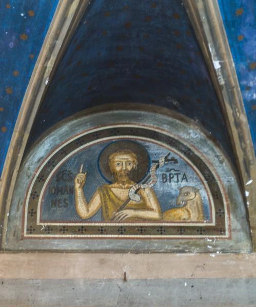 Kościół Santa Maria in Cappella, Jan Chrzciciel - jedna z lunet nawy bocznej