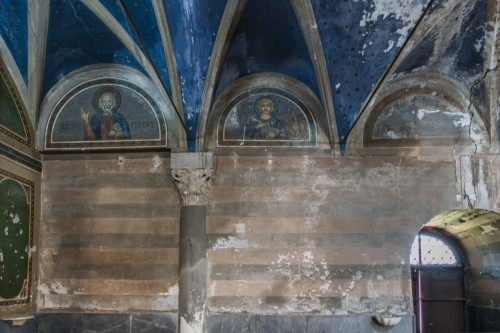 Church of Santa Maria in Cappella, saints in the lunettes