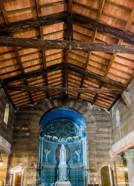 Church of Santa Maria in Cappella, open roof truss