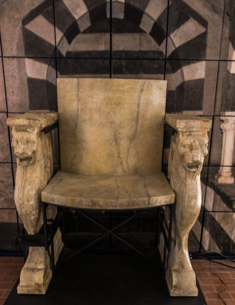 Church of Santa Maria in Cappella, bishop's throne