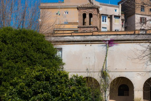 The Francesca Romana Retirement Home and the church of Santa Maria in Cappella