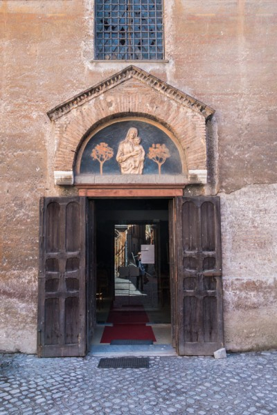 Church of Santa Maria in Cappella,main entrance