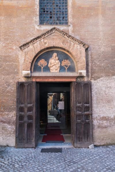 Church of Santa Maria in Cappella,main entrance