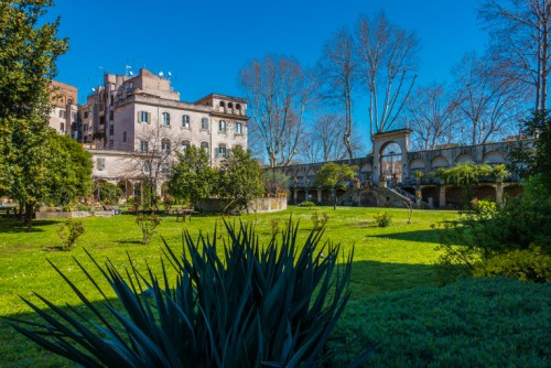 The garden and the buildings of the Francesca Romana Retirement Home
