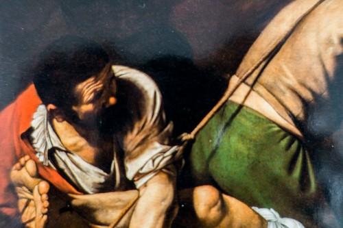 Caravaggio, The Crucifixion of St. Peter, fragment, Cerasi Chapel, Basilica of Santa Maria del Popolo