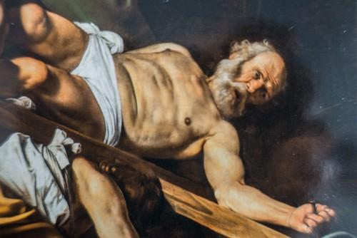 Męczeństwo św. Piotra, fragment, Caravaggio, kaplica Cerasich, bazylika Santa Maria del Popolo