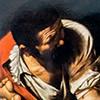 Caravaggio, Męczeństwo św. Piotra, fragment, kaplica Cerasich, bazylika Santa Maria del Popolo
