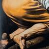 The Crucifixion of St. Peter, fragment, Caravaggio, Cerasi Chapel, Basilica of Santa Maria del Popolo