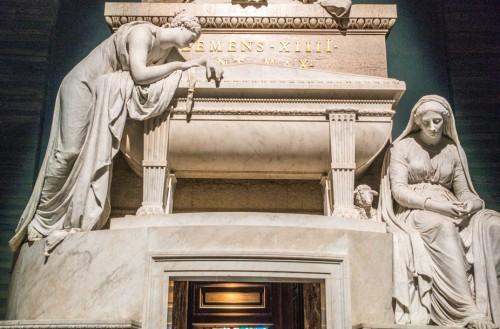 Pomnik nagrobny papieża Klemensa XIV, fragment, Antonio Canova, bazylika Santi Apostoli