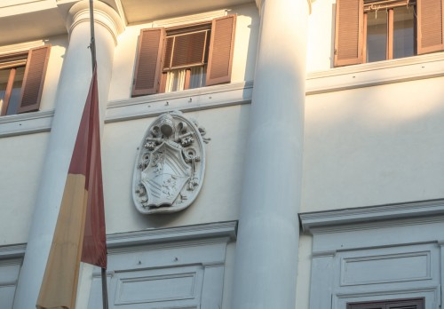 Building of the former tobacco factory, fragment, Piazza di Mastai