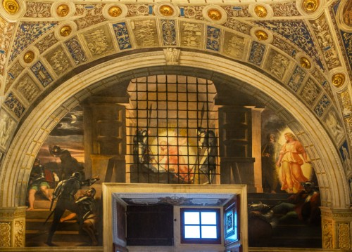 The Deliverance of St. Peter, Raphael, and his workshop, Stanza di Eliodoro, Apostolic Palace