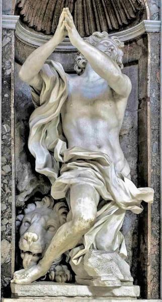 Daniel, Gian Lorenzo Bernini, bazylika Santa Maria del Popolo, kaplica Chigich