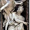 Habakuk z aniołem, Gian Lorenzo Bernini, bazylika Santa Maria del Popolo, kaplica Chigich